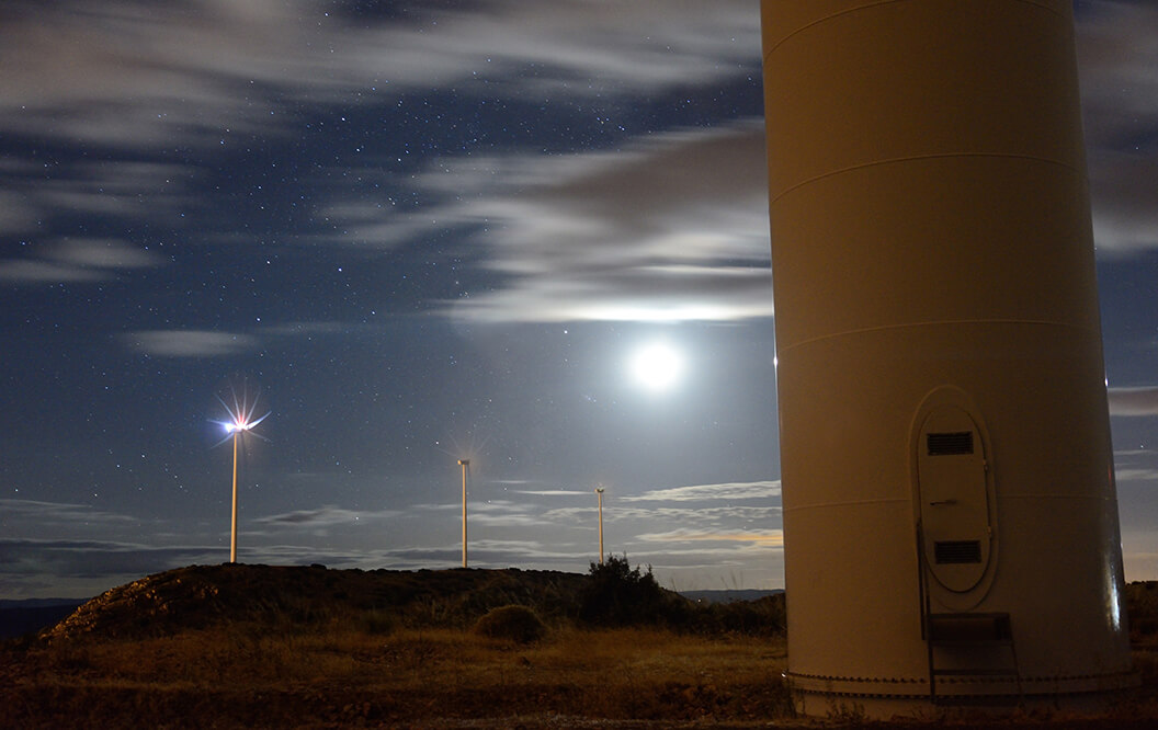 Wind farm lighting